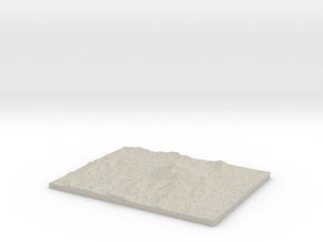 Model of Jabal Thawr in Natural Sandstone