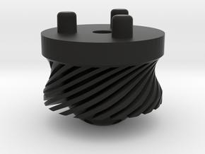Emek/Etha 2 Bolt Cap - TURBINE in Black Natural Versatile Plastic