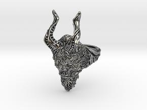 Krampus ring in Antique Silver: 7 / 54
