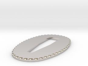 seppa 1.5mm in Rhodium Plated Brass