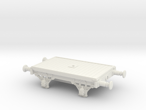 Lbscr 15' Bolster wagon (S.R. Dia. 1616) in White Natural Versatile Plastic: 1:76 - OO