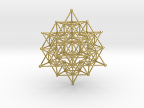 tetrahedron atom array in Natural Brass