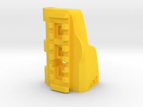 TeleScopix to G36 Shoulder Stock Adapter in Yellow Processed Versatile Plastic