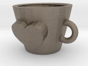 mug in Matte Bronzed-Silver Steel: Medium