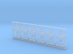 Helmhalter Typ-C 12 Stück 1:35 in Smooth Fine Detail Plastic