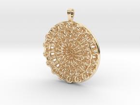 Circular Flower in 14k Gold Plated Brass