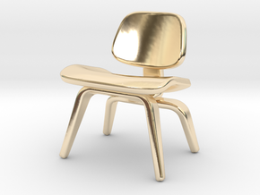 Eames chair necklace  in 14K Yellow Gold