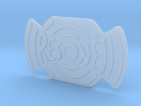 Resonet Logo in Smoothest Fine Detail Plastic