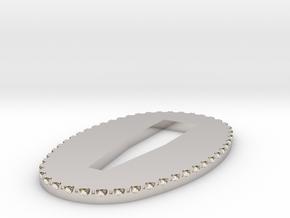 seppa 2mm in Rhodium Plated Brass