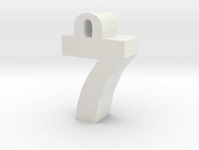 7 in White Natural Versatile Plastic: Medium