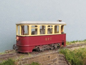 TTn3 K.P. Steam Tramcar  in Smooth Fine Detail Plastic