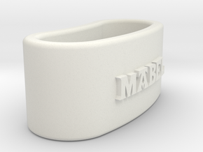 MABEL napkin ring with lauburu in White Natural Versatile Plastic
