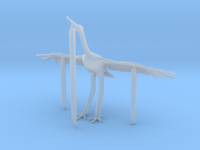 S Scale Egret in Smooth Fine Detail Plastic
