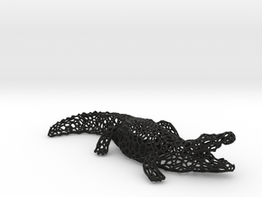 CROCODILE in Black Natural Versatile Plastic