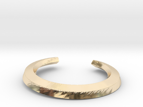 Tree root ring in 14K Yellow Gold: Extra Small