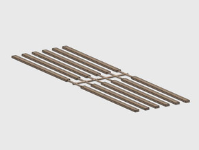 Wood Rail Fence - 12 Single Rails in White Natural Versatile Plastic: 1:87 - HO