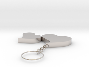 Key Ring Of Love in Platinum