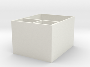Paper storage box in White Natural Versatile Plastic: Medium