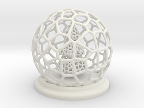 Voronoi Christmas Tree Globe in White Natural Versatile Plastic