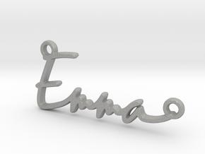 Emma Script First Name Pendant in Aluminum
