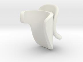 Left hand support for flute in White Natural Versatile Plastic