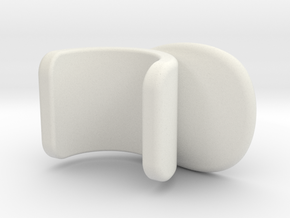 flute thumb rest type F in White Natural Versatile Plastic