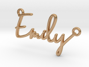 Emily Script First Name Pendant in Natural Bronze