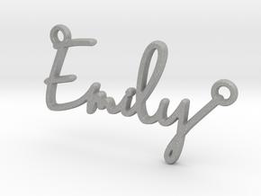 Emily Script First Name Pendant in Aluminum