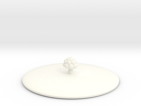 Small tree Cup lid in White Processed Versatile Plastic