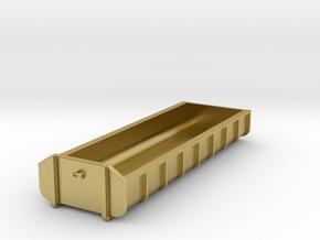 Container Abrollmulde flach 8 Meter 26m³ - mit Hak in Natural Brass