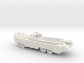 1/87 Scale DUKW in White Natural Versatile Plastic