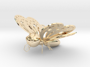 Butterfly in 14k Gold Plated Brass
