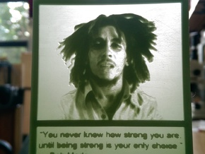 Bob Marley hanging lithophane Meme in White Acrylic