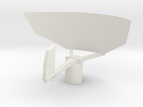 1/48 Scale AN/SPS-12 Radar in White Natural Versatile Plastic