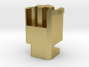 Topre to MX 6u Stabilizer Plunger (Left) in Natural Brass