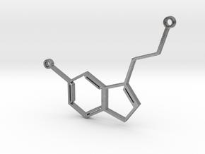 Serotonin_Necklace in Natural Silver