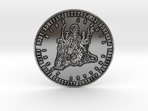Coin of 9 Virtues Maha Durga in Antique Silver