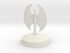 戰斧座檯.stl in White Natural Versatile Plastic: Small
