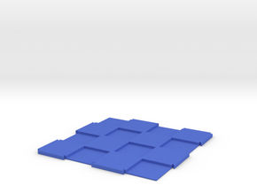 "Expandable Chess Board 4x4 with 1"" Squares in Blue Processed Versatile Plastic"