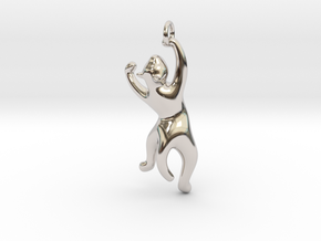 cat_004 in Rhodium Plated Brass