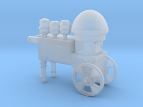 Cotton Candy Vendor Cart O Scale in Smooth Fine Detail Plastic