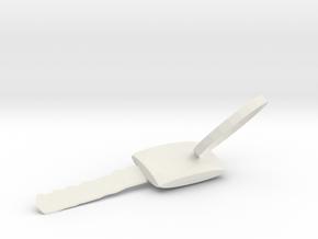 鑰匙鑰匙圈 in White Natural Versatile Plastic: Extra Small