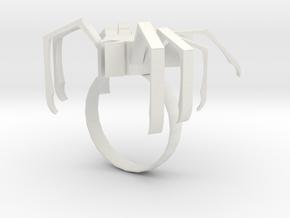 Spider ring in White Natural Versatile Plastic: 5.5 / 50.25