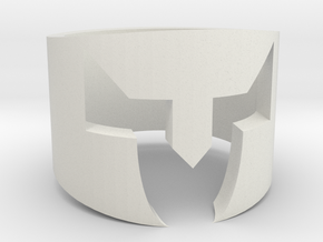 Medieval helmet ring  in White Natural Versatile Plastic: 6.75 / 53.375
