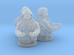 Gunner x3 scale: 1:72 in Smooth Fine Detail Plastic