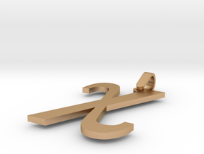 Gamma Sign Pendant Small in Natural Bronze (Interlocking Parts)