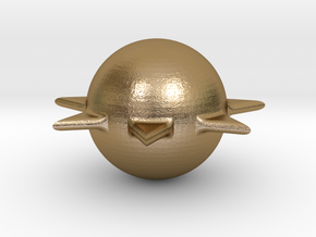 Sun in Polished Gold Steel