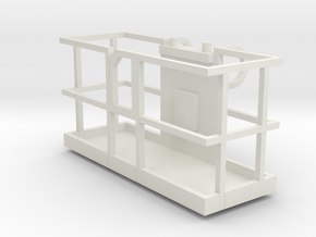 Boom Lift Basket Only 1-50 Scale in White Natural Versatile Plastic