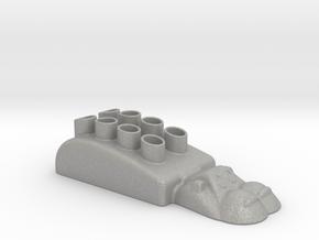 Hippopotamus-3 Pencil Case in Aluminum