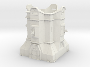 Imperial Bastion - Adeptus Titanicus Scale in White Natural Versatile Plastic